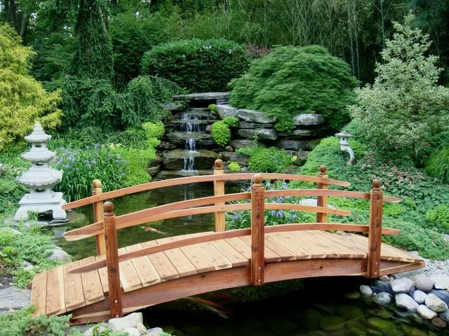 A Rocky Pond Under the Bridge